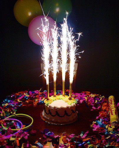 6 Fountain Candles Cake PACK Novelty Magic Fun By Lamerchante