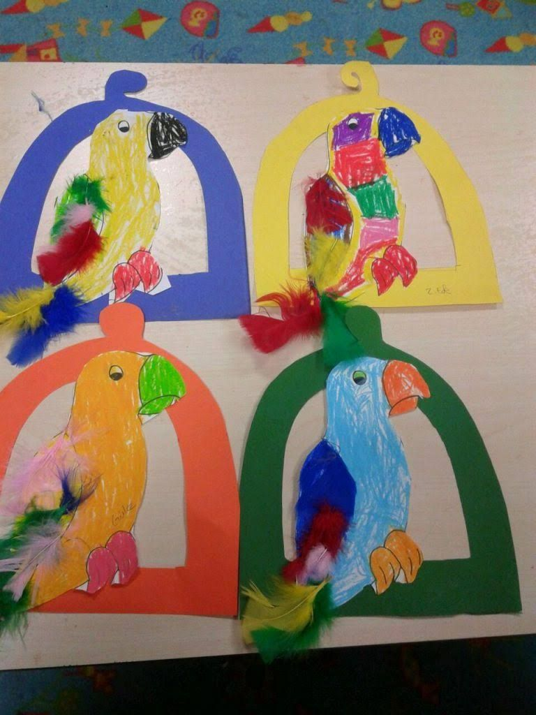Parrot Craft Idea For Kids Crafts And Worksheets For