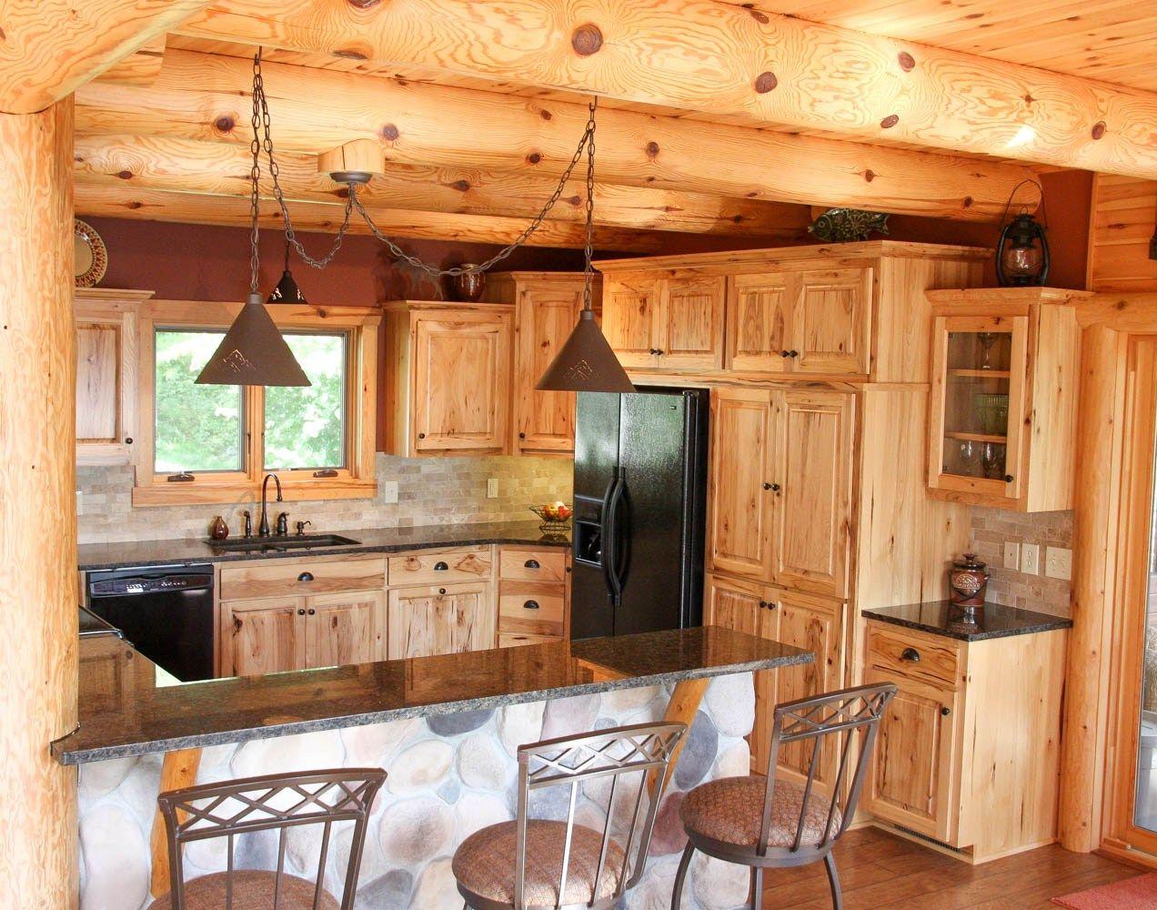 14 Log Cabin Kitchen Backsplash Ideas Images in 2020   Log ...