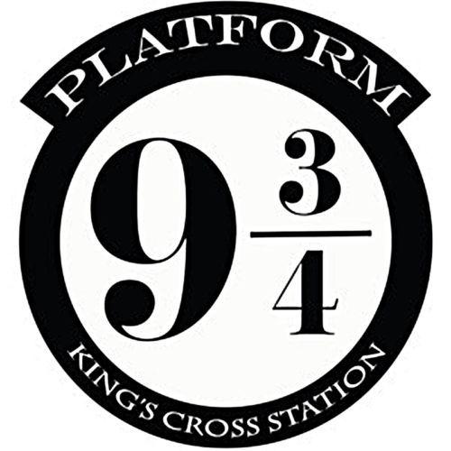 Harry Potter Plateforme 9 3 4 Kings Cross Cut Vinyle Mur Art Sticker Autocollant