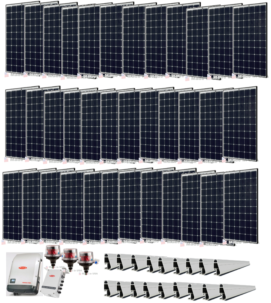 10 9kw Grid Tie Solar Power System With Fronius Inverter Solar Power System Solar Installation Solar Heating