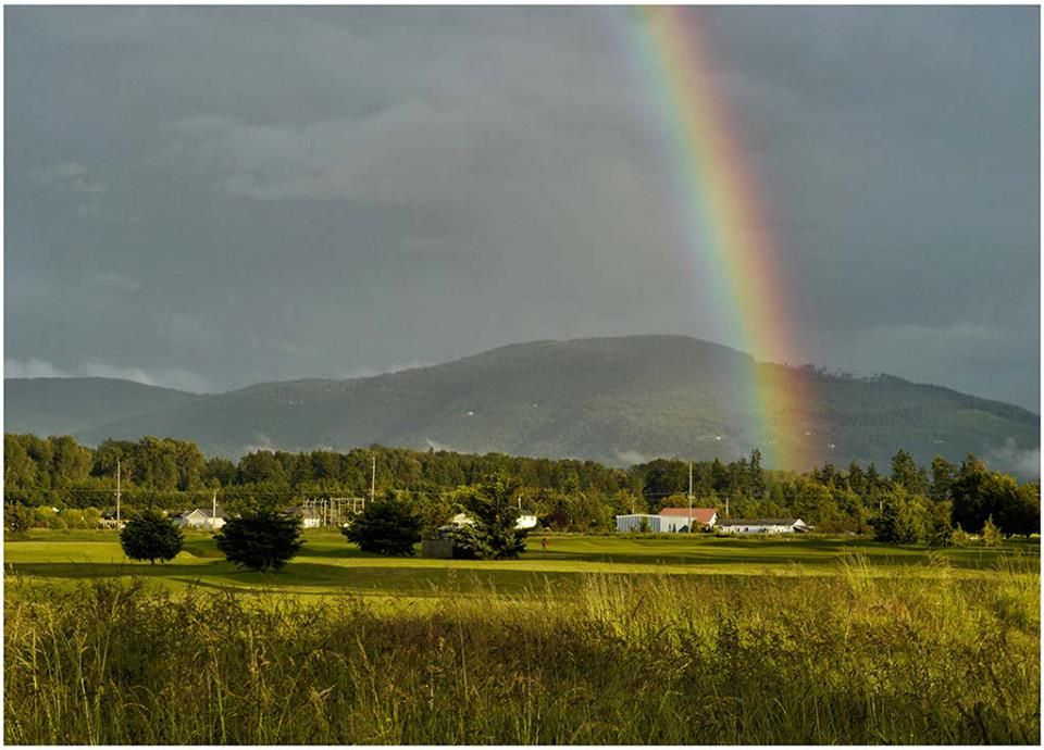 country rainbow - photo courtesy of my friend and classmate, Alan Halfhill