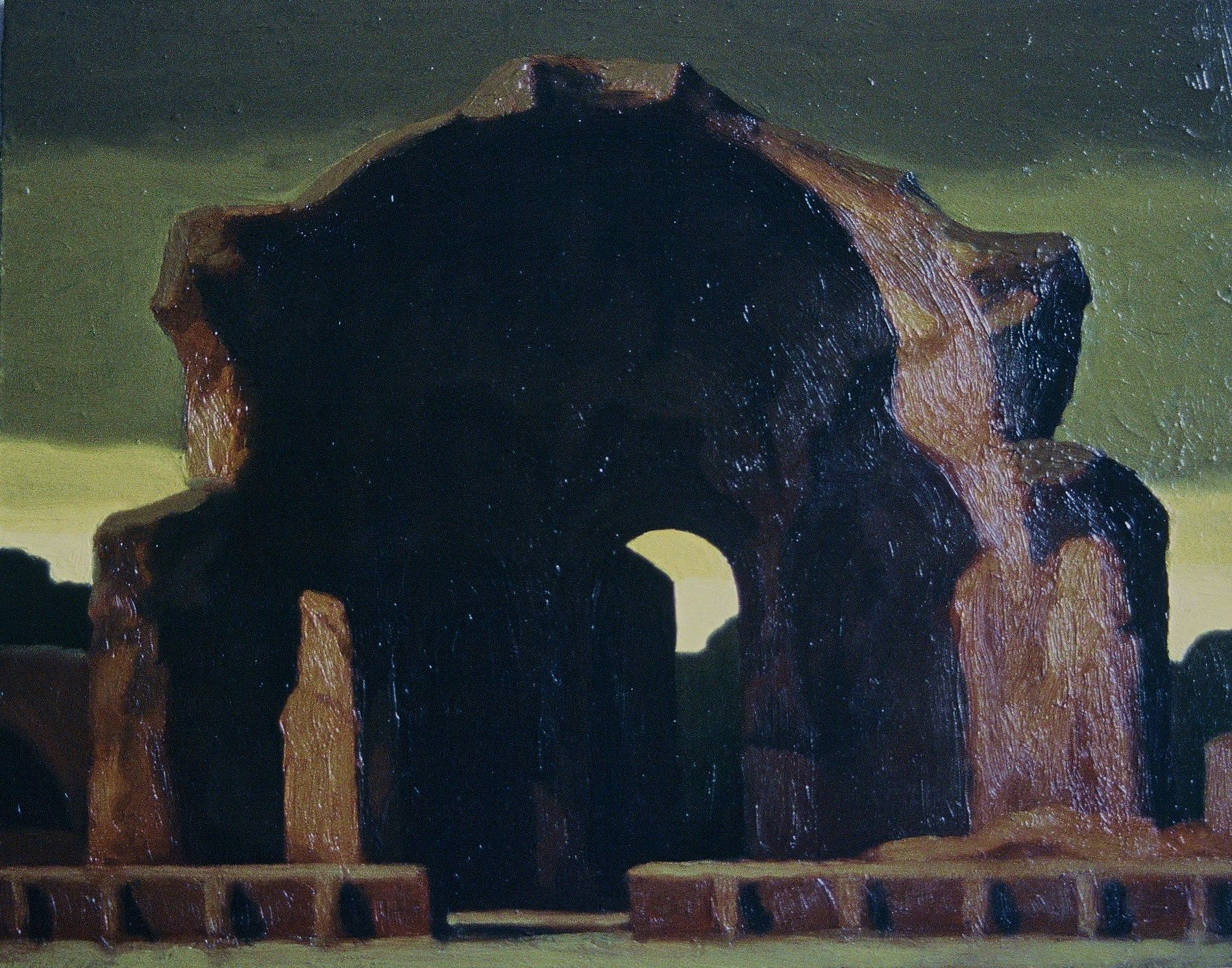 Hadrian's Villa, Italy   by Renny Tait 1993   12x14cm   Oil on Canvas