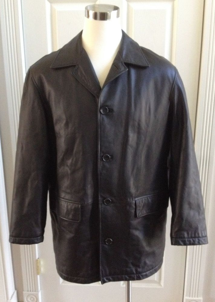 0b027f425 Mens hugo boss neiman marcus antero black leather lambskin 40r very ...