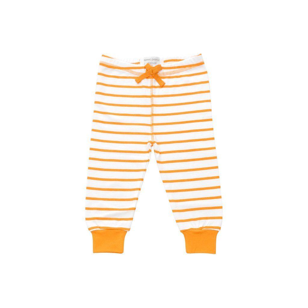 945432381d2f Cozy pants in orange marseille stripe