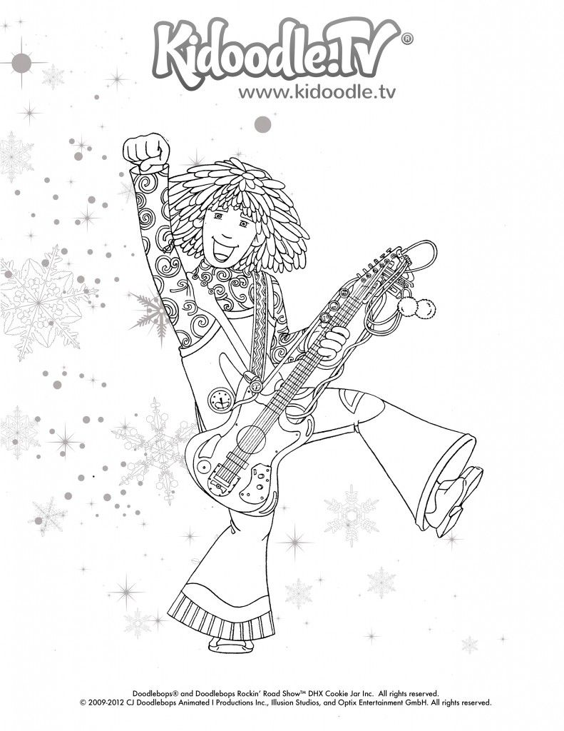 Doodlebops Coloring Sheet 1 | Andrew | Pinterest