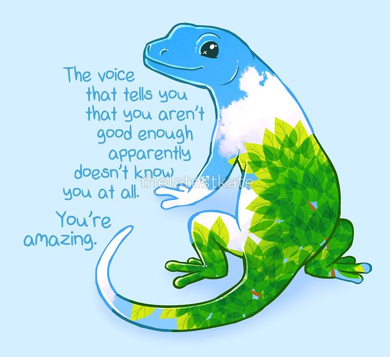 You Re Amazing Summer Leaves Gecko Sticker By Thelatestkate