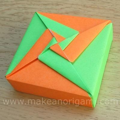 Origami Square Box 2 Lid 1pinwheels Tomoko Fuse Origami
