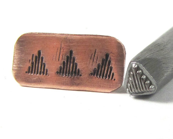 Native American 22 - design treated steel stamp. Each stamp is a wonderful design that will enhance anything you add them too. Earrings, Bracelets,