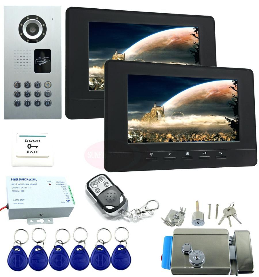 Front Doors Compact Front Door Camera System For Modern Home For