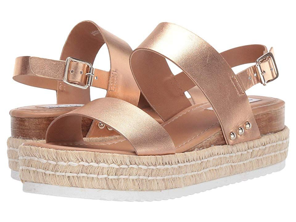 b69859b233b Steve Madden Catia Wedge Sandal Women's Wedge Shoes Rose Gold ...