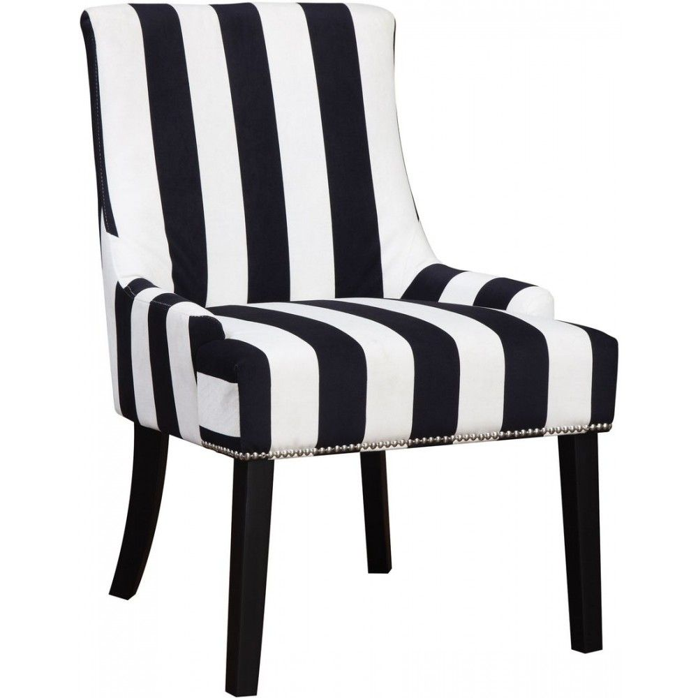 Black And White Accent Chair White Accent Chair Striped