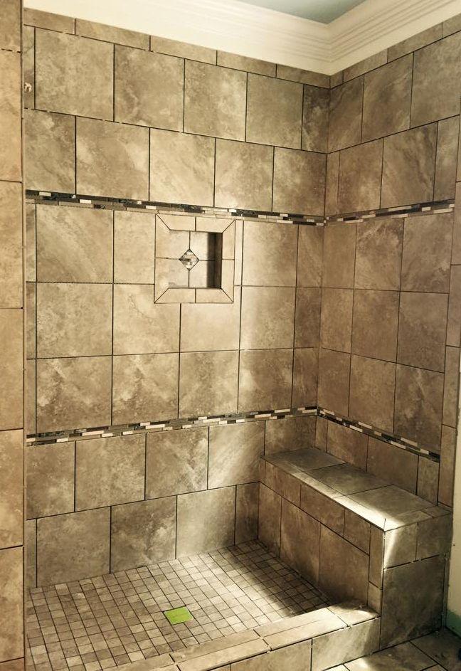 large shower tile large tile flooring