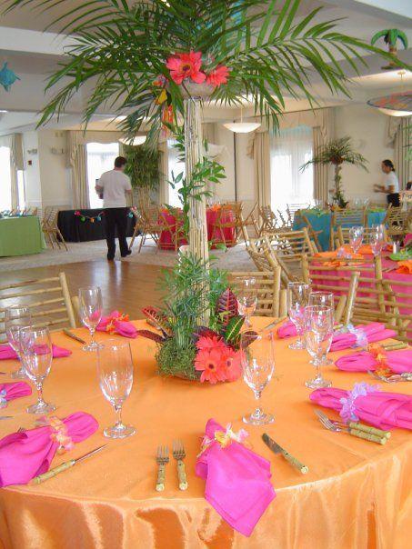 Tropical Tabletop Luau Centerpieces Luau Theme Party Luau Theme