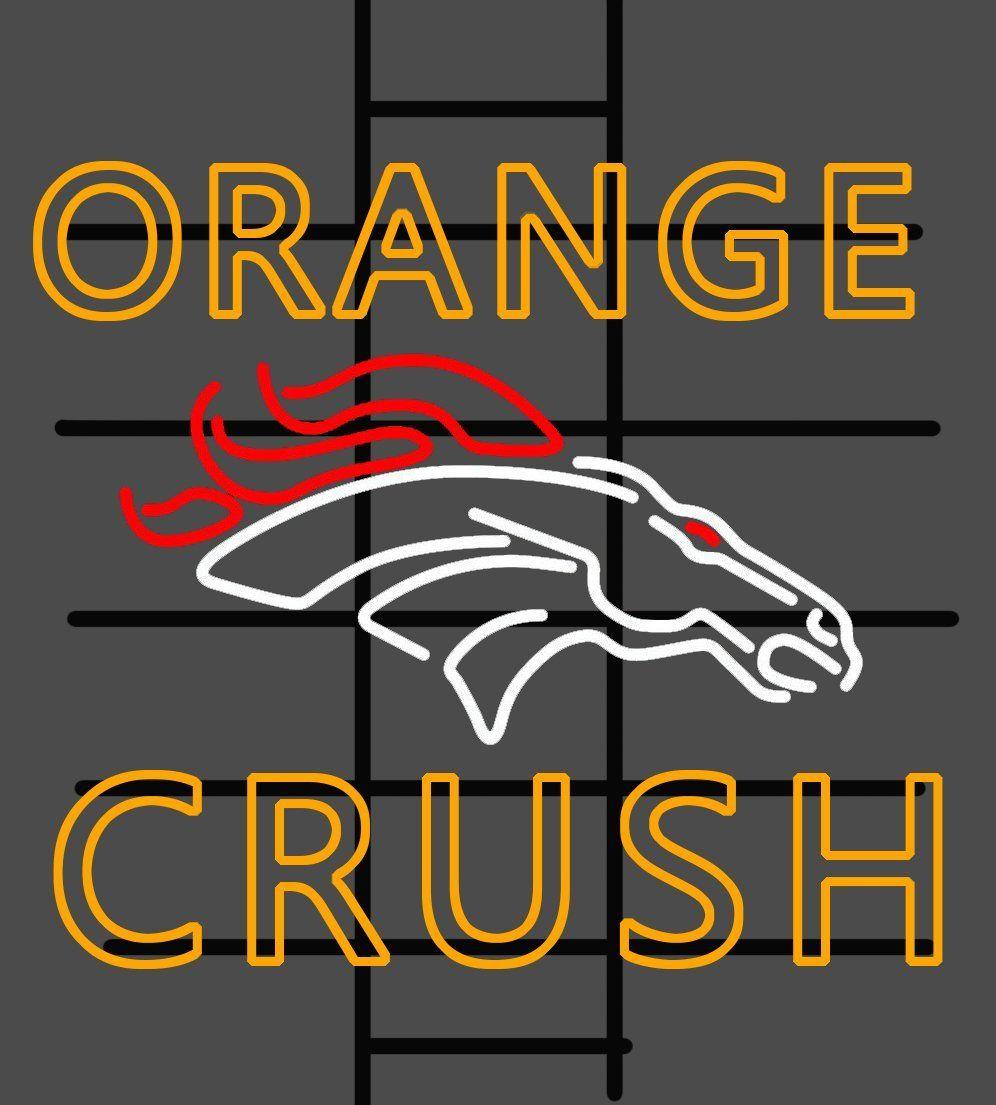 Orang Crush Denver Broncos NFL Sports Neon Sign Glass Tube