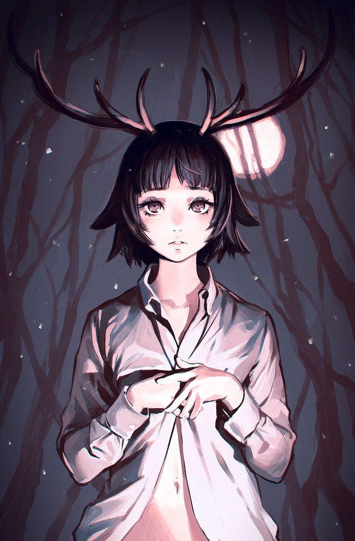 Antlers Manga Illustration Anime Art Illustration