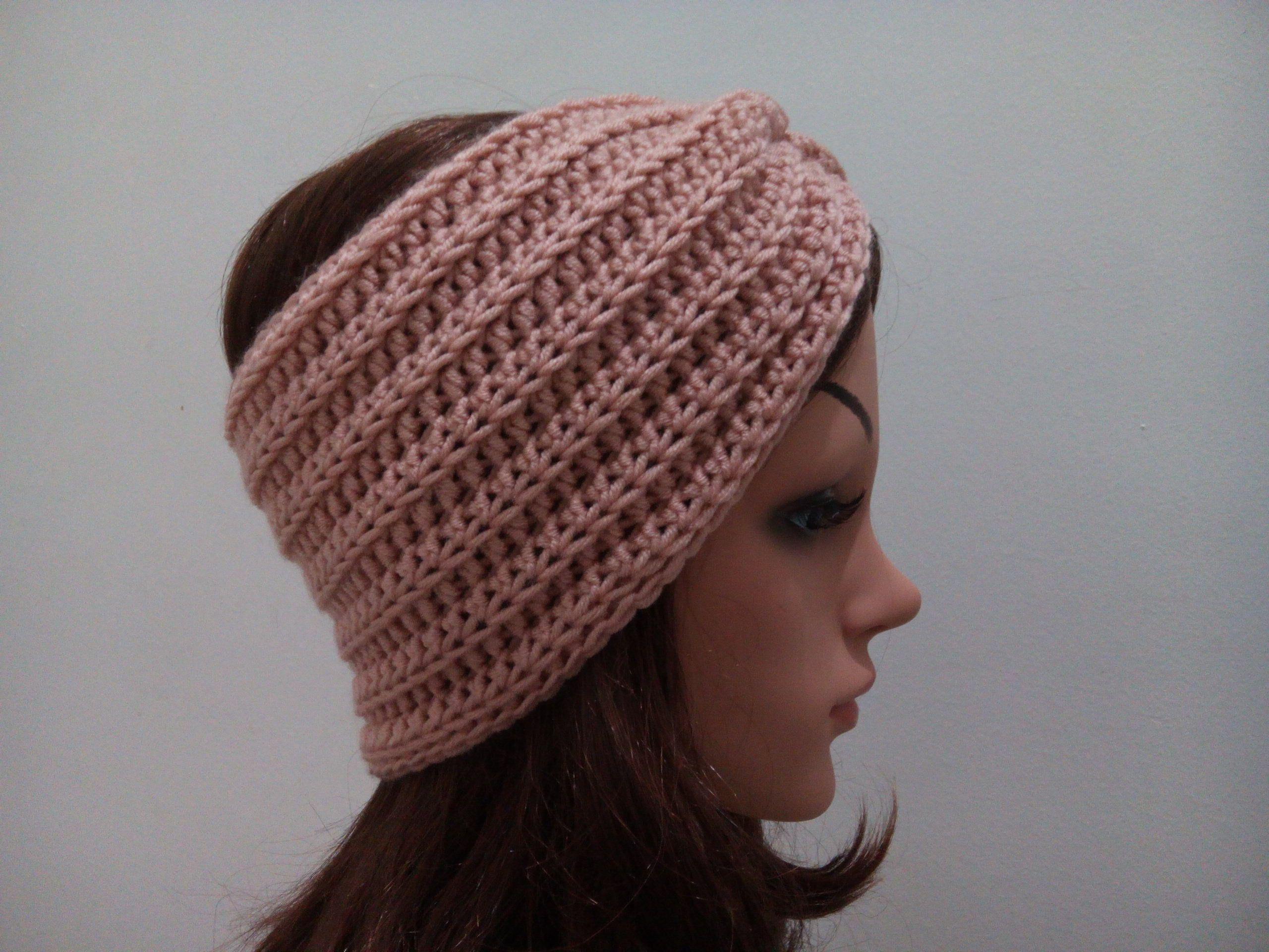 Dark Gray Crochet Cotton Ear Warmer One Size Fits Most