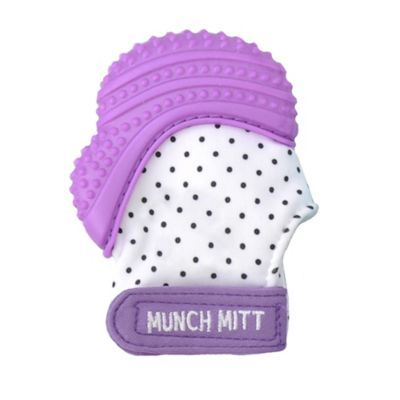 Much Mitt Baby Teething Mitten Pink Shimmer Unicorn Stays-on-Hands