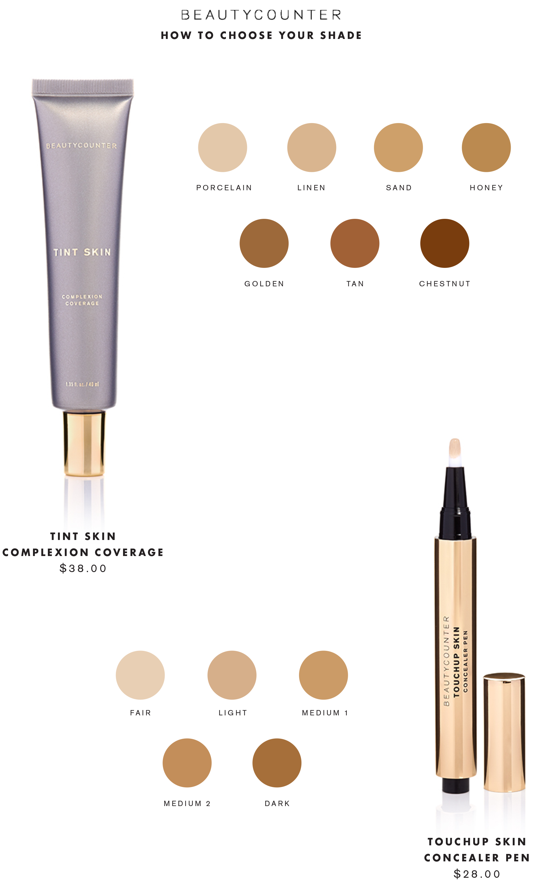 Beautycounter how to choose your shade Tint Skin ...