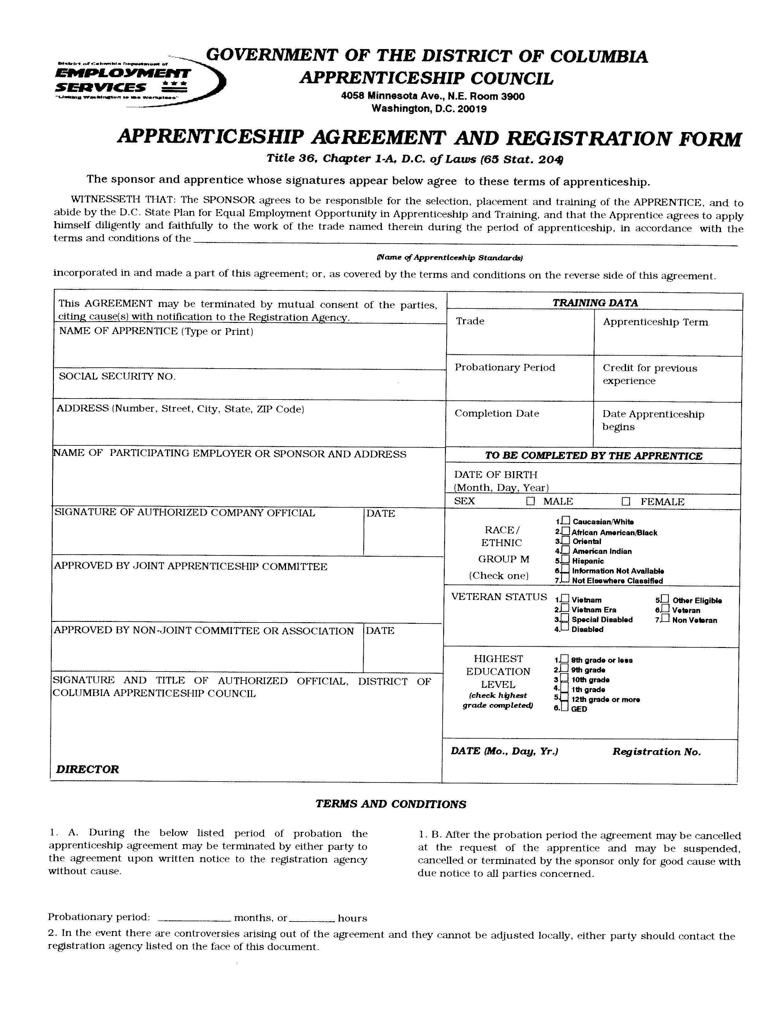 Does Apprenticeship Agreement Form How To Draft A Does
