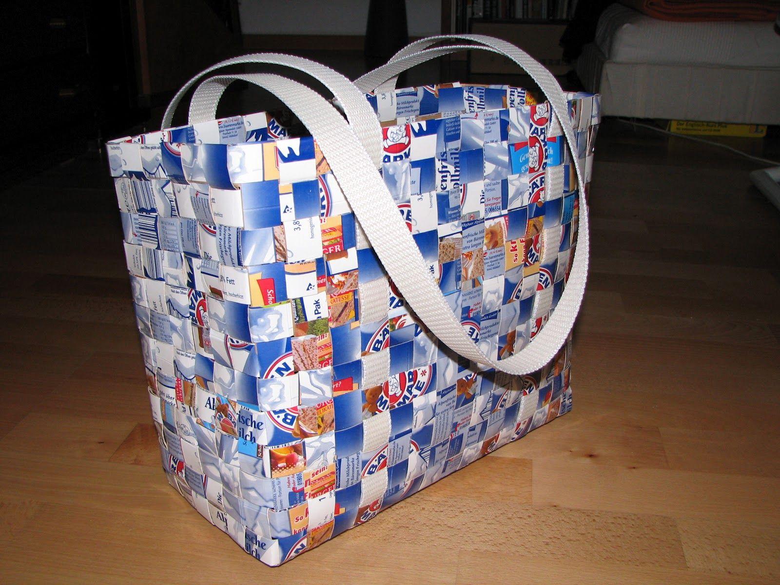 Bastelnixe Wannseenixe: Tetra Packtasche Anleitung | Taschen