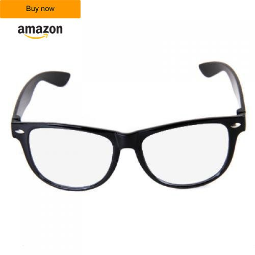 Imported Unisex Black Frame Clear Lens Glasses Nerd Cool Geek Buy this from amazon: http://amzn.to/2cgUf0R