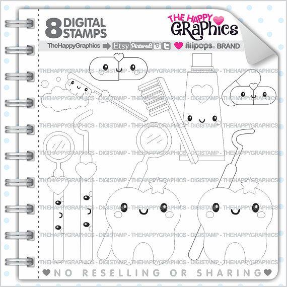 Dentist Stamps, 80%OFF, Commercial Use, Digi Stamp, Digital Image ...