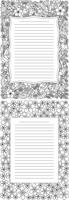 Coloring Journal Pages Free Coloring Journal Freebies Coloring Journal Writing Paper Printable Stationery Free Writing Paper