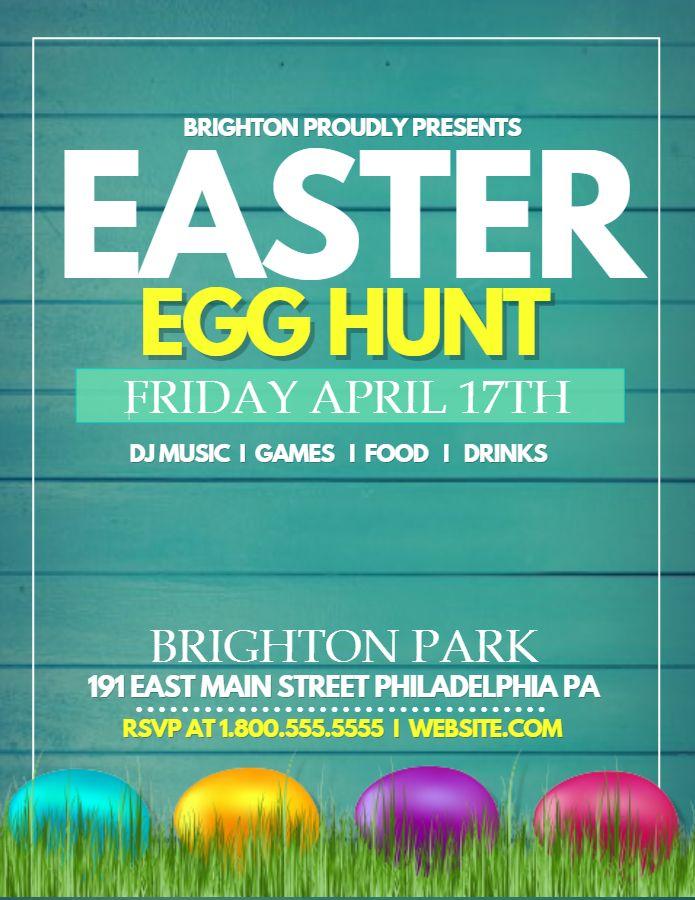 Easter Egg Hunt Flyer Design Click to customize Easter Poster