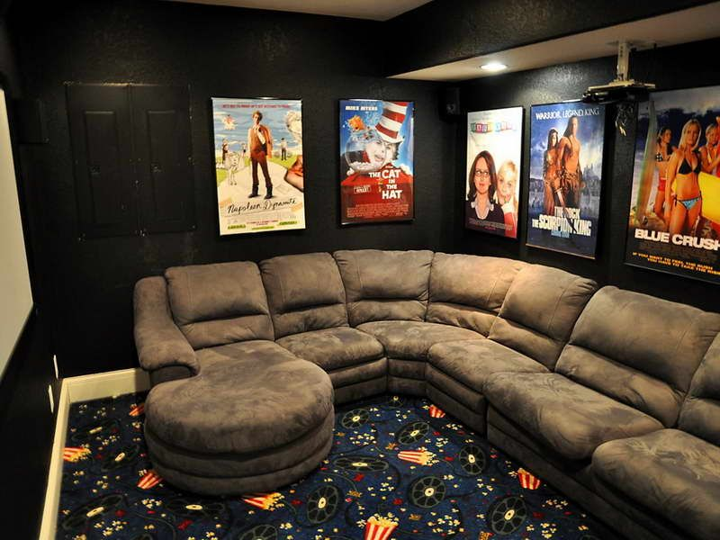 Ideas : Bakers Rack Decorating Ideas With Sofa Gray Ideas Of Cool Home  Theater Rooms Home Theatre Designu201a Home Theater Decoru201a Media Room Design  Also Ideass