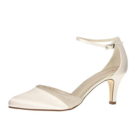 Rainbow Club Brautschuhe Lisan Pumps Ivory Creme Satin Grosse