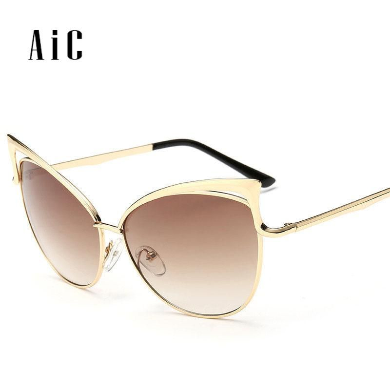 cbab3a4ad49 Classic Vintage Cat Eye Rose Gold Mirror Women Sunglasses Fashion Brand  Designer Retro Sun metal hollow Glasses Lady. Yesterday s price  US  25.12  (21.82 ...