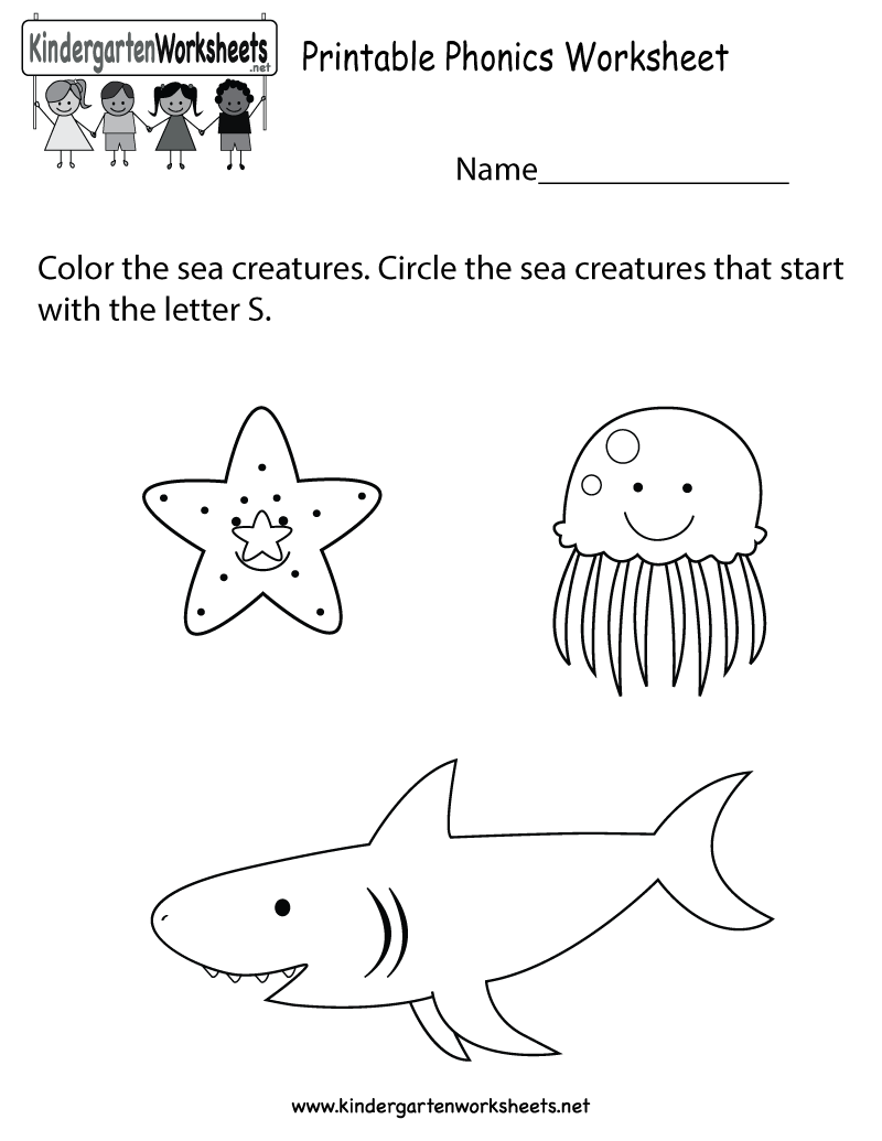 Free phonics worksheet that can also be a fun coloring page ...