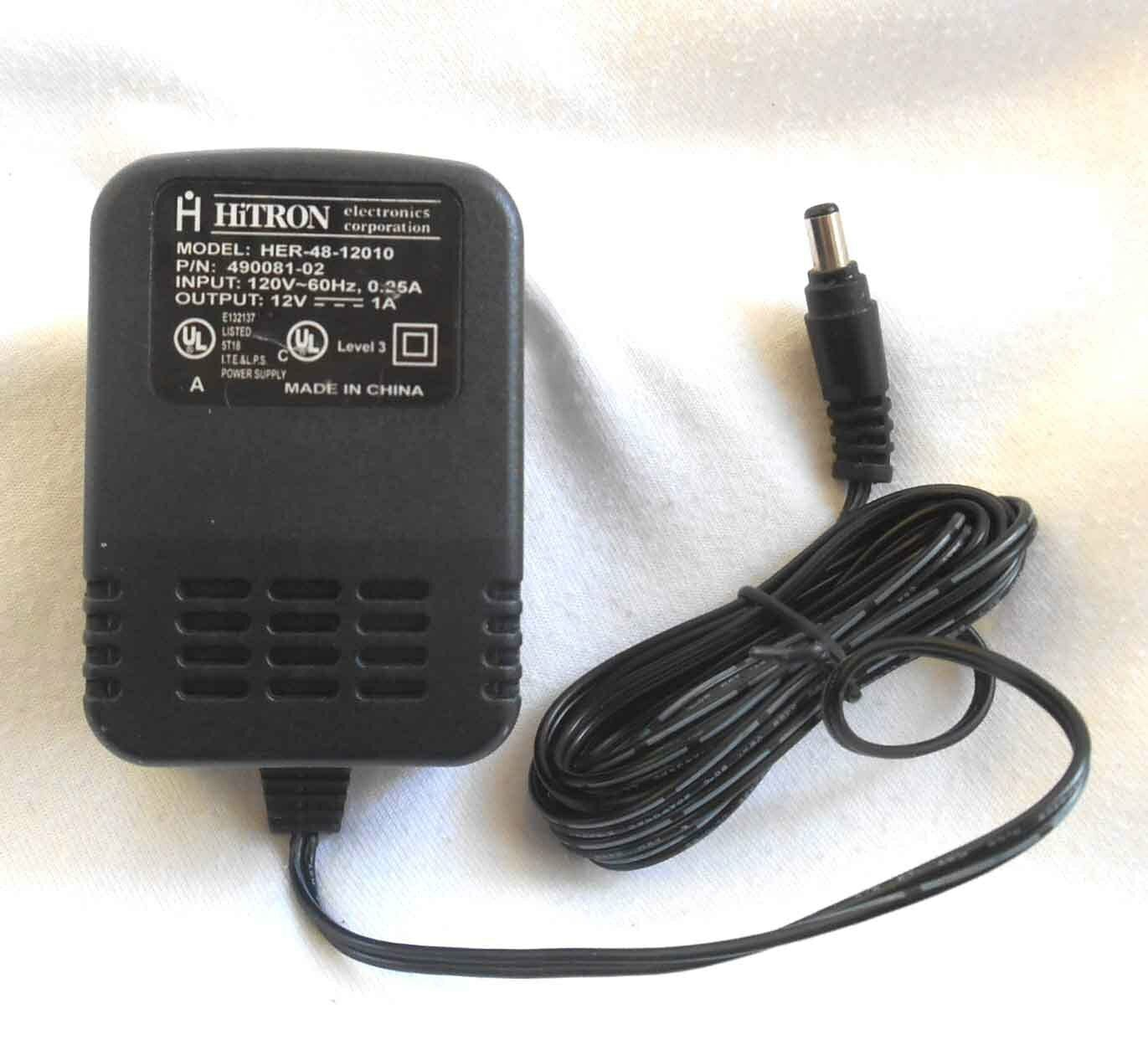 Brand New Hitron Output 12v 75a Her 48 12010 490081 02 Class 2 Transformer Ac Dc Power Adapter Fr Power Adapter Acdc Adapter