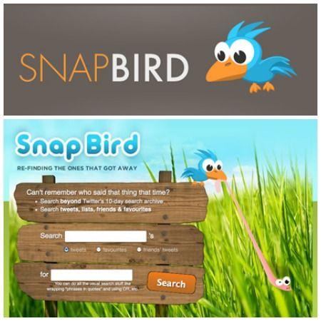 Snapbird: una aplicación para encontrar tuits por palabras