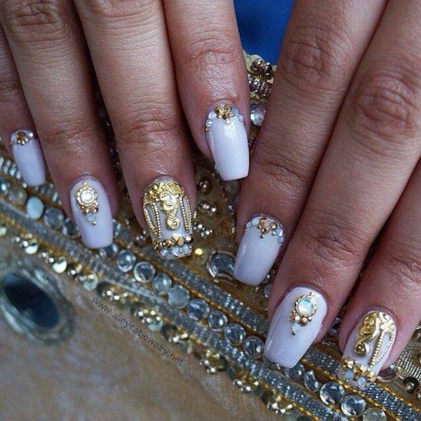c4hf7u-l-610x610-nail+accessories-nails-crown-gold-handmade-nail+ ...