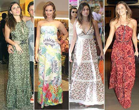 Modelos vestidos estampados casuales