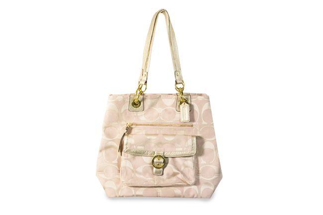 Coach Blush Taupe Signature Jacquard Tote Bag Tote Bag Bags Taupe