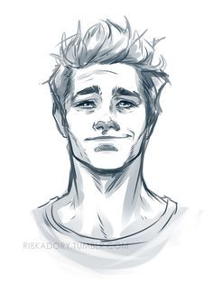 Messy Haired Guy Yes Thank The Good Lord For This As Now I Have A Good Reference As To How To Draw Guys How To Draw Hair Sketches Face Drawing
