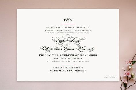 Like the block lettering on this one Also like the monogram font - Formal Invitation Letters