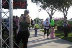 There was a free kids run - so cute!
