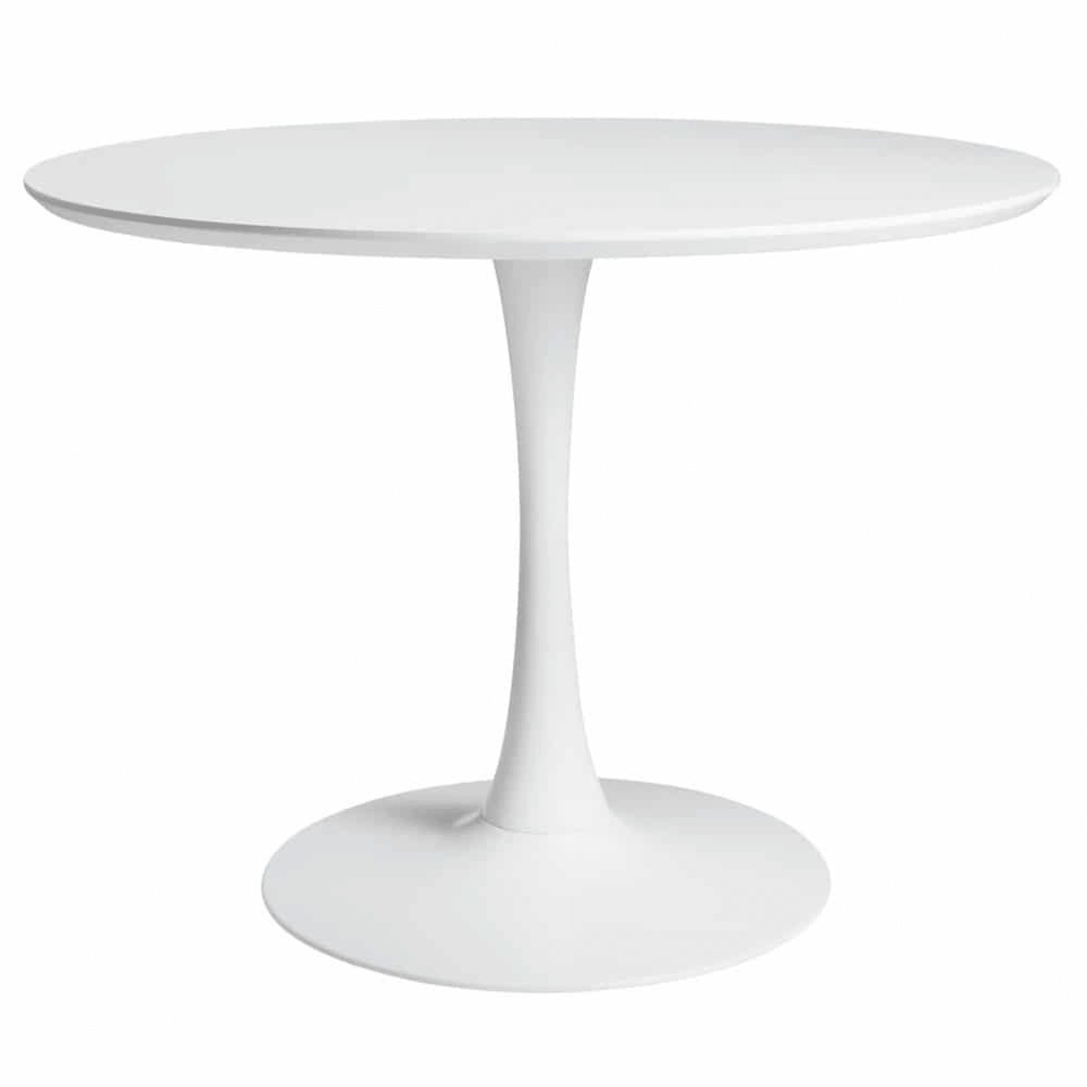 Table A Manger Ronde Blanche 4 5 Personnes D100 White Dining