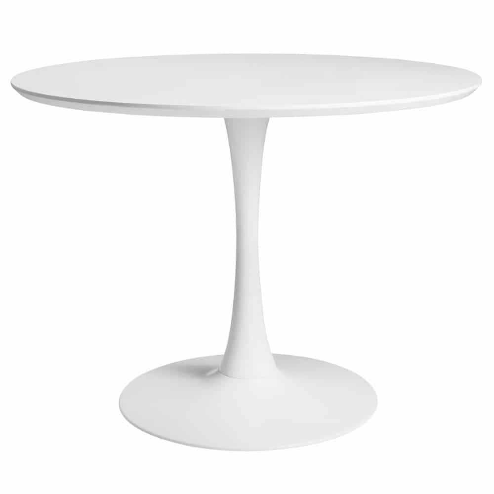 Table A Manger Ronde Blanche 4 5 Personnes D100 Avec Images Table A Manger Ronde Table Ronde Blanche