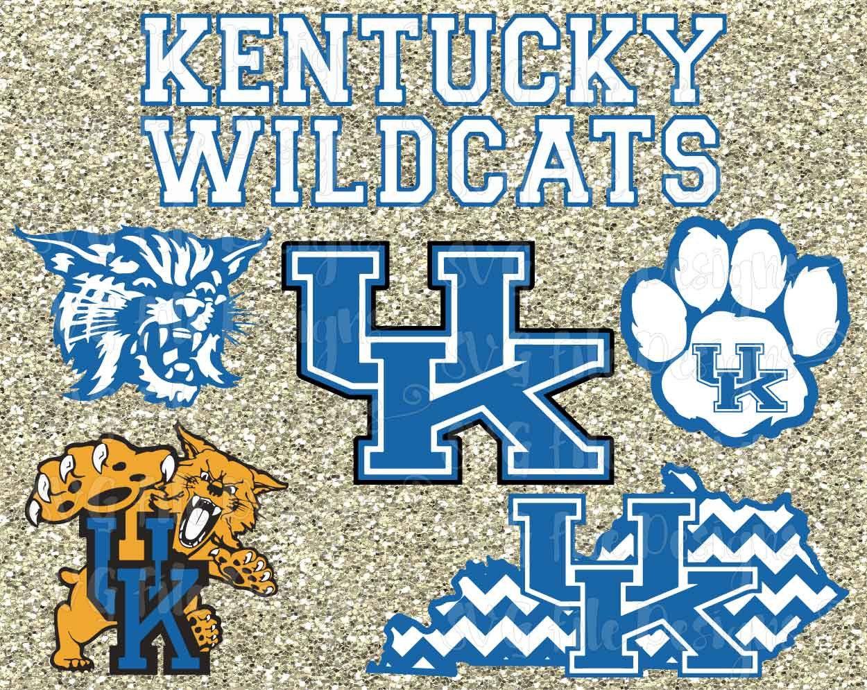 University of Kentucky Wildcats State Football Logo Cutting File ...