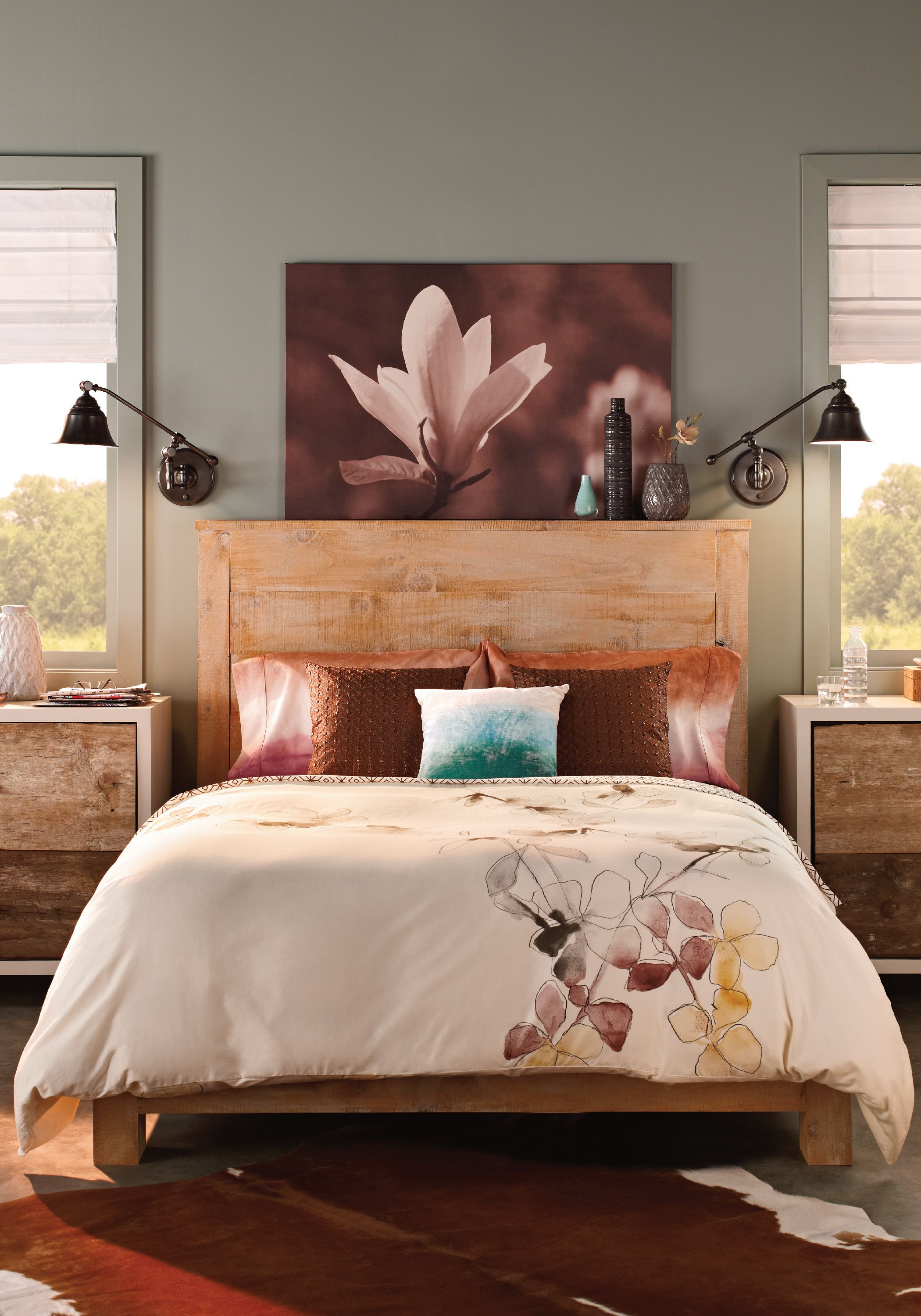 Behr Bedroom Colors Give Your Bedroom A Makeover With Behr Paint In Artful Aqua To
