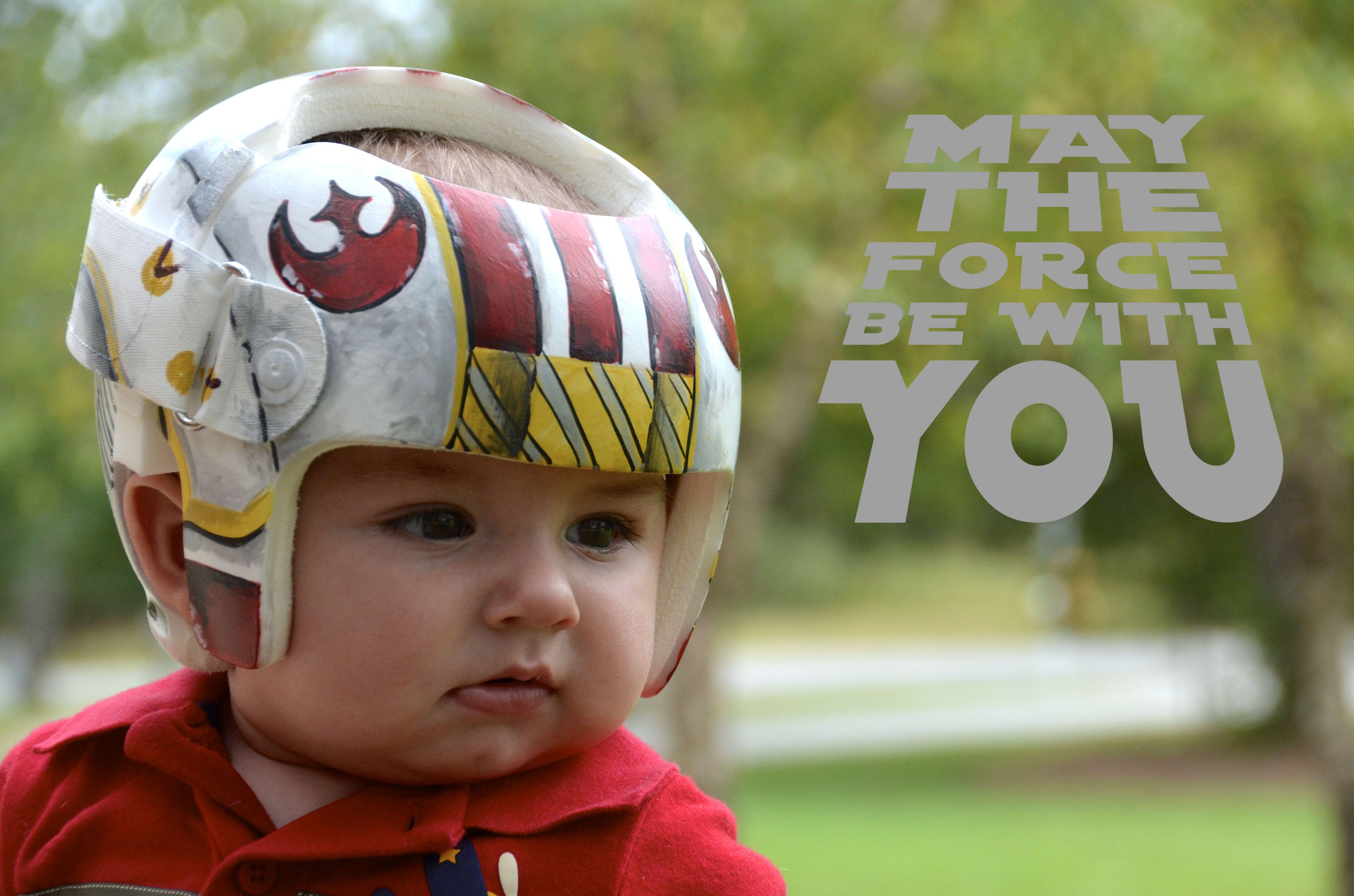 X Wing Fighter Helmet Star Wars Cranial Band Doc Helmet Https Www Facebook Com Pages Cranial Bandsmur Baby Helmet Baby Helmet Design Boys Baby Helmet Design