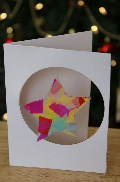 Tarjetas de navidad hechas con los niños Manualidades divertidas