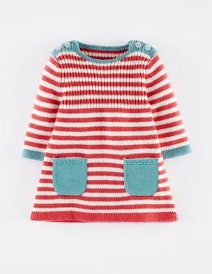 Gestreiftes Strickkleid Micro Fashion Stricken Baby Mädchen