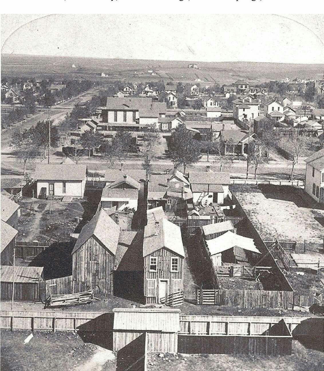 Colorado Springs And: Downtown Colorado Springs, Bijou And Tejon 1879