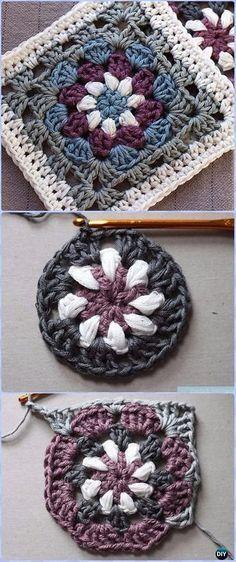 40 Crochet Granny Square Free Patterns